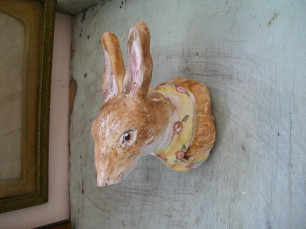 Rabbit happy? Commission a ceramic Rabbit Bust ($65) from potter Julie Whitmore.