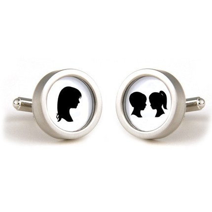 Let Dad show off his family at functions with these Custom Silhouette Cufflinks ($48).