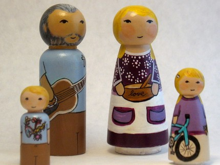 Get the entire family crafted with this Blessed Little Family Toy Set ($60). Just give the artist descriptions of appearances and interests of the family members, and she'll turn them into wooden doll form!