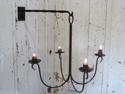 I love how this Metal Art Chandelier ($70) hangs off the wall. It's a great piece for a corner.