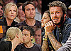 Gallery of Photos of David Beckham, Charlize Theron, Stuart Townsend, Sacha Baron Cohen at LA Lakers vs LA Clippers Game