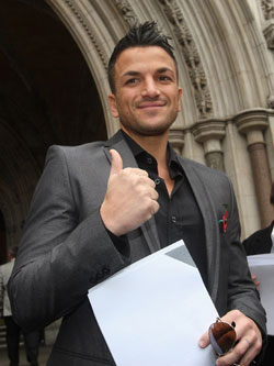 Photos of Peter Andre at Royal Courts of Justice Wins Damages in Libel Case Against Now Magazine