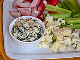 Warm Spinach-White Bean Dip with Crudites