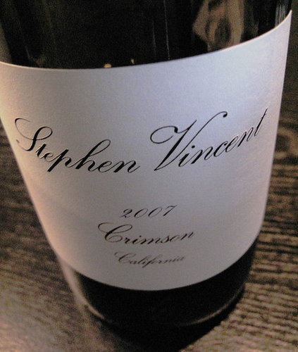 Happy Hour: 2007 Stephen Vincent Crimson