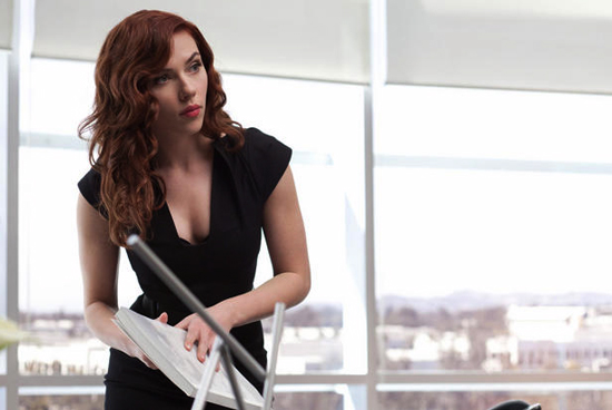 I can't wait to see more of Scarlett Johansson as the Black Widow, but she's still pretty smoldering as her alter-ego, Natasha Romanoff.