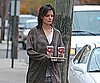 Slide Photo of Katie Holmes With Coffee in Long Island