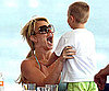 Slide Photo of Britney Spears in Sydney Wearing a Bikini With Jayden James