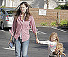 Slide Photo of Jennifer Garner and Violet Affleck Grocery Shopping