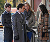 Slide Photo of Ed Westwick, Chace Crawford, Leighton Meester and Blake Lively on Gossip Girl Set