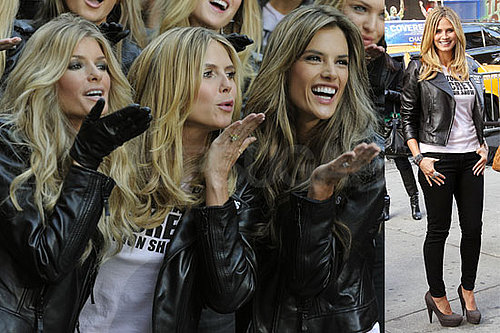 Photos of Heidi Klum and Alessandra Ambrosio With the VS Angels in NYC