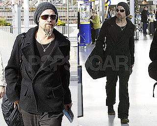 Photos of Brad Pitt Leaving LAX
