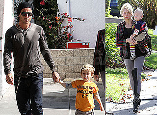 Photos of Gwen Stefani, Gavin Rossdale, Kingston Rossdale and Zuma Rossdale at a Party in LA