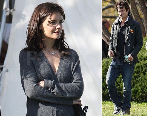 Photos of Katie Holmes and Josh Duhamel on the Set of The Romantics