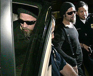 Photos of Brad Pitt and His Beard at LAX