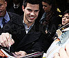 Slide Photo of Taylor Lautner Signing Autographs in NYC