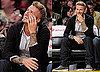 Photos of Jack Nicholson, David Beckham, George Lopez, Simon Baker, Leslie Mann, Judd Apatow, Josh Groban Watching the Lakers