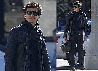 Photos of Orlando Bloom Dressed in Black Leaving Lunch in LA