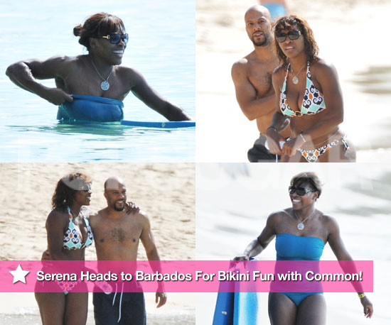 Serena Williams Bikini Photos in Barbados With Boyfriend Common