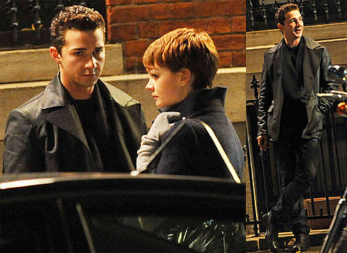 Photos of Shia LaBeouf and Carey Mulligan Filming on the Set of Money Never Sleeps in NYC 2009-11-24 02:00:00
