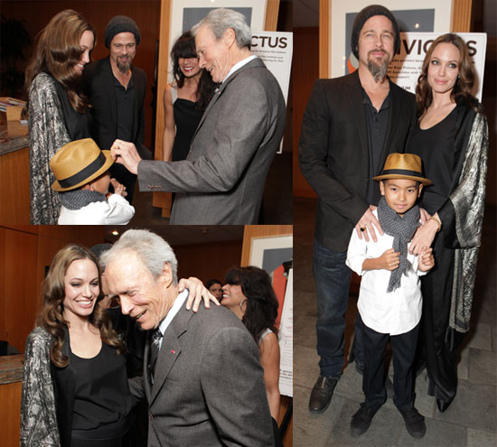 Photos of Angelina Jolie, Brad Pitt, Maddox Jolie-Pitt, Matt Damon at LA Invictus Premiere