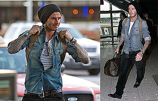 Photos of David Beckham Traveling From LA to London