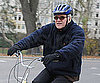 Slide Photo of Steve Martin Riding His Bike in NYC