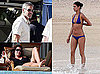 Photos of Cindy Crawford and Elisabetta Canalis in Bikinis at The Beach in Mexico