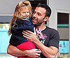 Slide Photo of Ben Affleck Carrying Violet Out of School