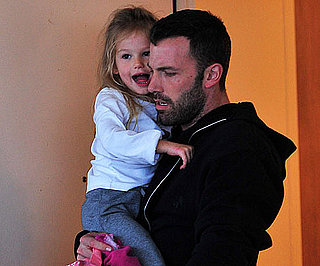 Slide Photo of Ben Affleck and Violet Leaving School