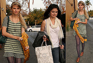Photos of Taylor Swift and Selena Gomez Grabbing Lunch in LA