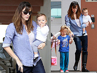 Photos of Violet Affleck Getting Picked Up From School on Her Birthday with Seraphina Affleck and Jennifer Garner