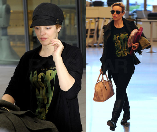 Photos of Rachel McAdams at Heathrow 2009-12-09 09:09:26