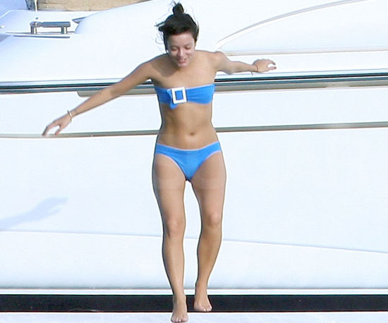 Lily Allen jumped in for a dip during an August 2009 stay in St.-Tropez.