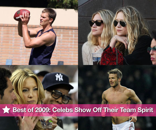 Best of 2009: Celebrities Show Off Their Team Spirit