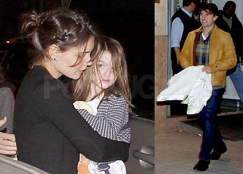 Photos of Katie Holmes, Tom, Isabella, Connor, and Suri Cruise Eating Dinner in Spain