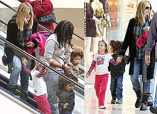 Photos of Heidi Klum Out Shopping in LA With Leni, Johan and Henry Samuel