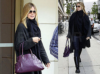 Photos of Heidi Klum Wearing All Black Running Errands in LA