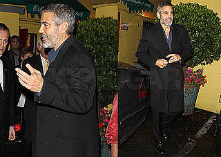 Photos of George Clooney Leaving Dan Tana's in LA