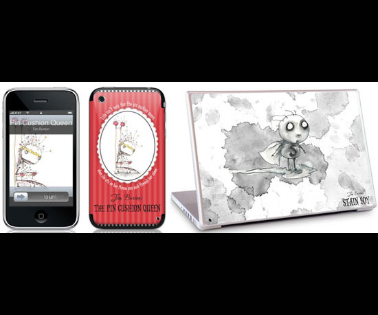 Tim Burton iPhone and Laptop Skins ($15-$30)