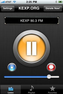 Seattle Radio Station KEXP Releases iPhone App