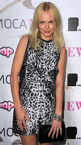 Kate Bosworth Wears Aquatic Print Proenza Schouler Dress and Silver Bangles to the MOCA 30th Anniversary Gala in LA