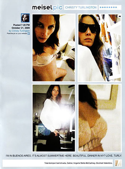 Models Twitter For December 2009 Issue of Vogue Italia