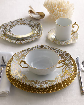 Get your Alencon Dinnerware ($250-$616) at Neiman Marcus.