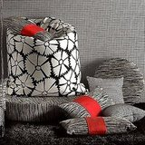 The pillow is from the Missoni Black & White Living Collection.