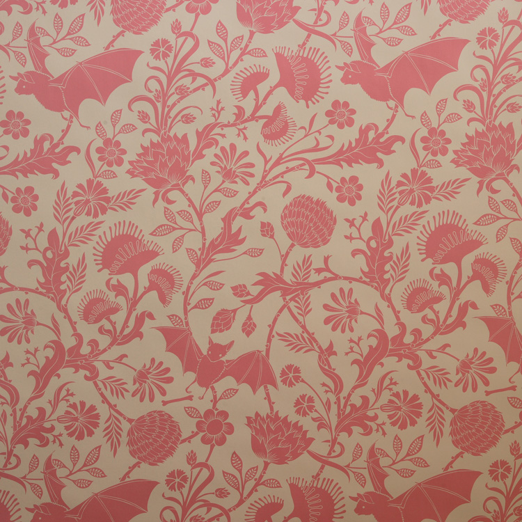 Think pink is too girly? Then spice it up with some bizarrely patterned wallpaper. Go a little wild with Flavor Paper's unique Elysian Fields Wallpaper.