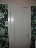 I chose this Graham and Brown wallpaper in my house. I love the contrast of minty greens with the brown background.