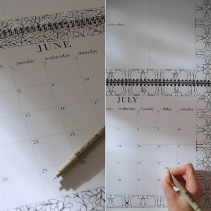 Color in the awesome patterns on the pages of this Eco Wall Calendar ($25).
