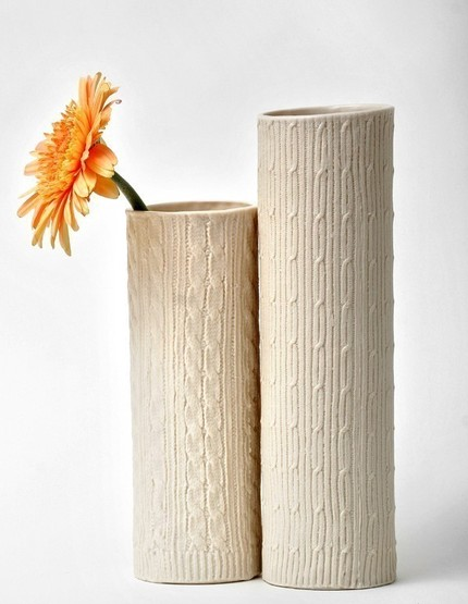 This Knitware Vase ($150) would be a fun accent for your Winter cabin.