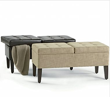 JCPenney is offering discounts on a wide range of home décor products beginning Thanksgiving day. The 2 Compartment Storage Bench will be $78.88, reduced from $200. Get a sneak peek at all the discounts here.