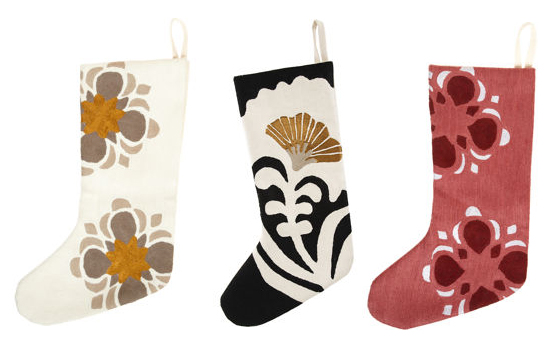 Barneys New York sells these hand-embroidered Christmas stockings ($145) designed by NY-based designer Judy Ross.